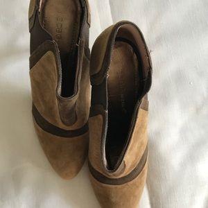 BCBGeneration Shoes - BCBG Generation Heeled Bootie Brown Leather Sz 7
